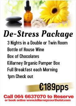 De-Stress Special Offer at the Killarney Court Hotel