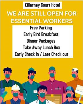 Essential Worker Special Offer at the Killarney Court Hotel